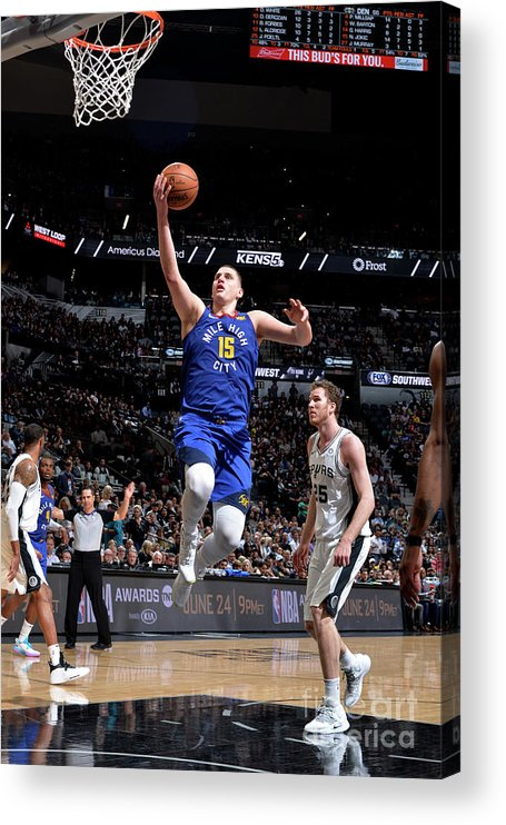 Playoffs Acrylic Print featuring the photograph Denver Nuggets V San Antonio Spurs - by Mark Sobhani