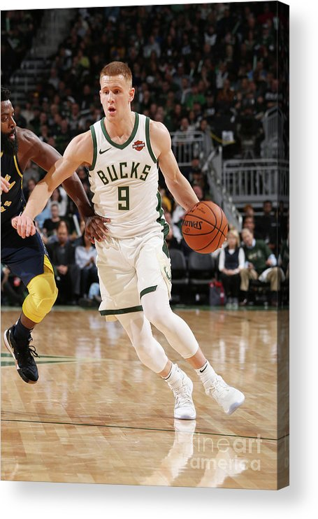 Nba Pro Basketball Acrylic Print featuring the photograph Indiana Pacers V Milwaukee Bucks by Gary Dineen