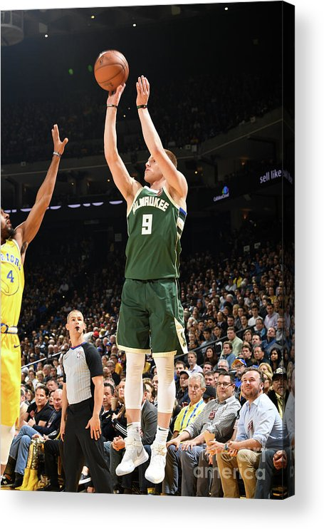 Nba Pro Basketball Acrylic Print featuring the photograph Milwaukee Bucks V Golden State Warriors by Noah Graham