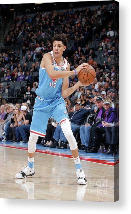 Nba Pro Basketball Acrylic Print featuring the photograph Minnesota Timberwolves V Sacramento by Rocky Widner