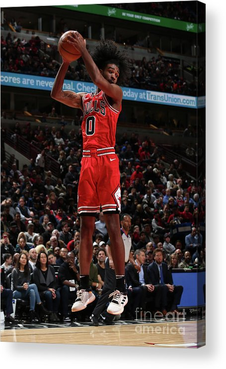 Coby White Acrylic Print featuring the photograph New York Knicks V Chicago Bulls by Gary Dineen