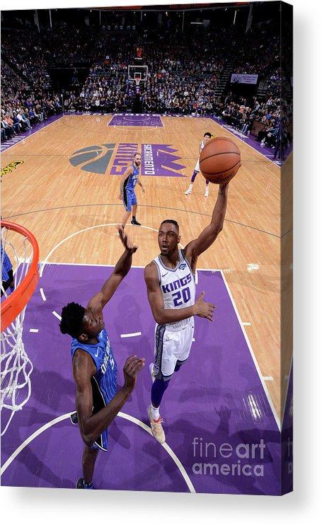 Nba Pro Basketball Acrylic Print featuring the photograph Orlando Magic V Sacramento Kings by Rocky Widner