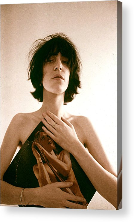 Event Acrylic Print featuring the photograph Patti Smith Portrait Session by Michael Ochs Archives