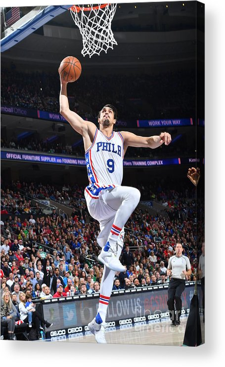 Nba Pro Basketball Acrylic Print featuring the photograph Philadelphia 76ers V Boston Celtics by Jesse D. Garrabrant