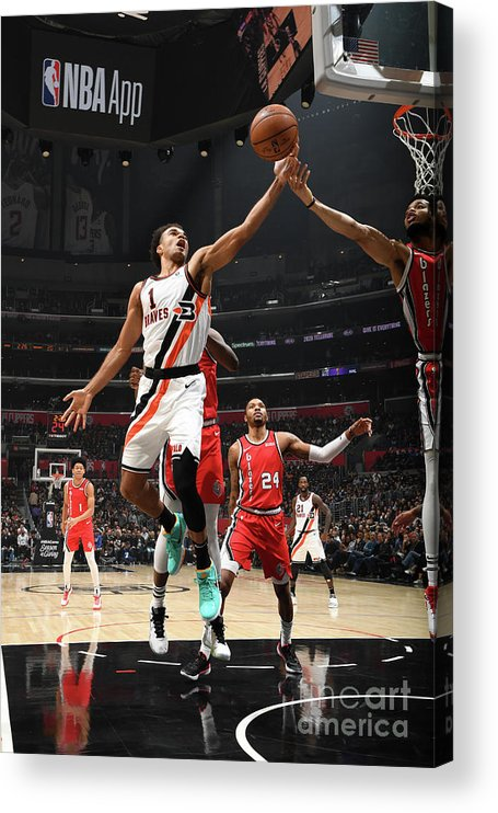 Jerome Robinson Acrylic Print featuring the photograph Portland Trail Blazers V La Clippers by Andrew D. Bernstein