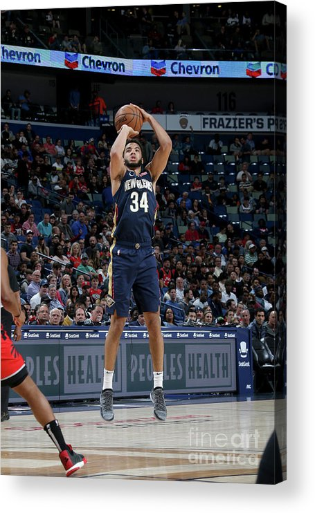 Smoothie King Center Acrylic Print featuring the photograph Toronto Raptors V New Orleans Pelicans by Layne Murdoch Jr.