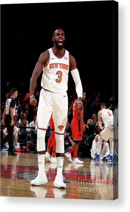 Tim Hardaway Jr. Acrylic Print featuring the photograph Toronto Raptors V New York Knicks by Nathaniel S. Butler