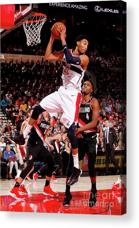 Nba Pro Basketball Acrylic Print featuring the photograph Washington Wizards V Portland Trail by Cameron Browne