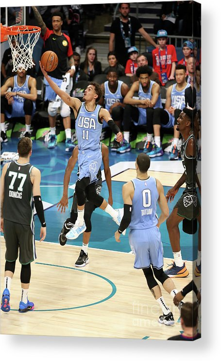 Nba Pro Basketball Acrylic Print featuring the photograph 2019 Mtn Dew Ice Rising Stars by Kent Smith