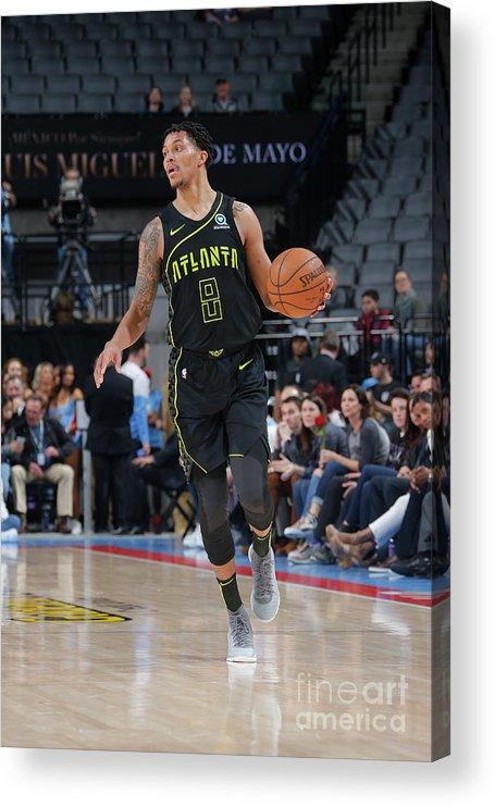 Nba Pro Basketball Acrylic Print featuring the photograph Atlanta Hawks V Sacramento Kings by Rocky Widner