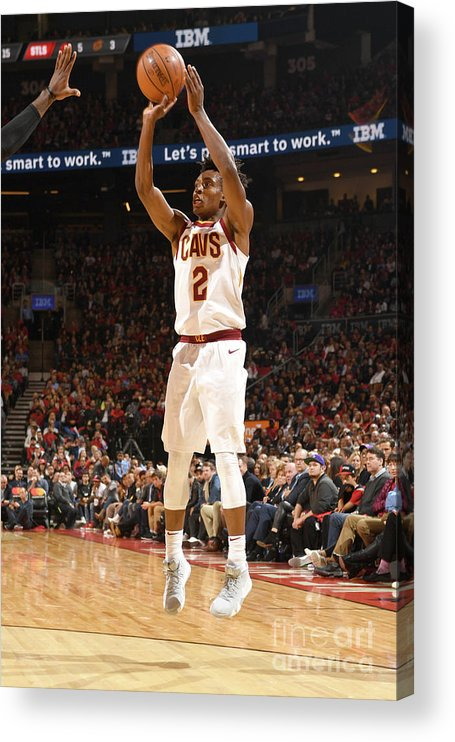 Nba Pro Basketball Acrylic Print featuring the photograph Cleveland Cavaliers V Toronto Raptors by Ron Turenne