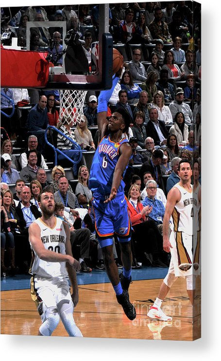 Nba Pro Basketball Acrylic Print featuring the photograph New Orleans Pelicans V Oklahoma City by Bill Baptist