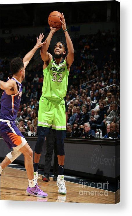 Nba Pro Basketball Acrylic Print featuring the photograph Phoenix Suns V Minnesota Timberwolves by David Sherman