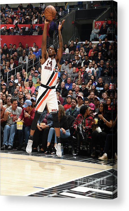 Nba Pro Basketball Acrylic Print featuring the photograph Portland Trail Blazers V La Clippers by Andrew D. Bernstein