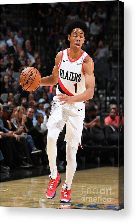 Nba Pro Basketball Acrylic Print featuring the photograph Portland Trail Blazers V San Antonio by Garrett Ellwood