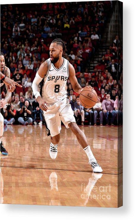 Nba Pro Basketball Acrylic Print featuring the photograph San Antonio Spurs V Houston Rockets by Bill Baptist