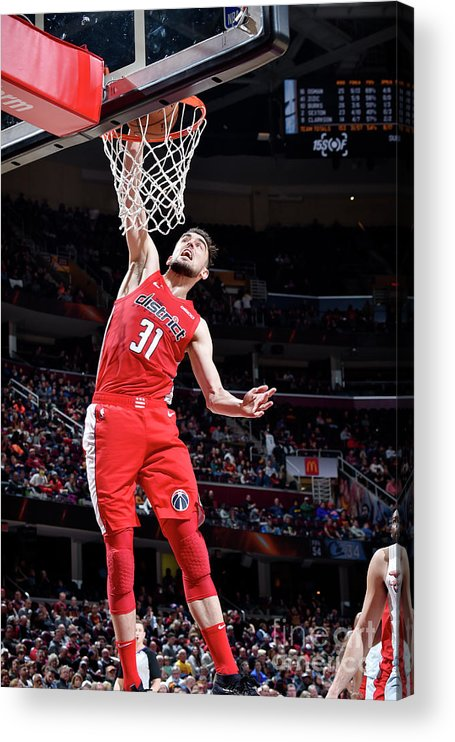 Nba Pro Basketball Acrylic Print featuring the photograph Washington Wizards V Cleveland Cavaliers by David Liam Kyle