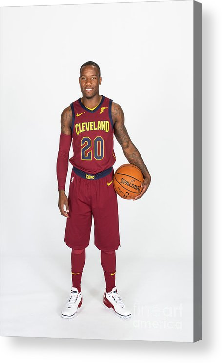 Media Day Acrylic Print featuring the photograph 2017-18 Cleveland Cavaliers Media Day by Michael J. Lebrecht Ii
