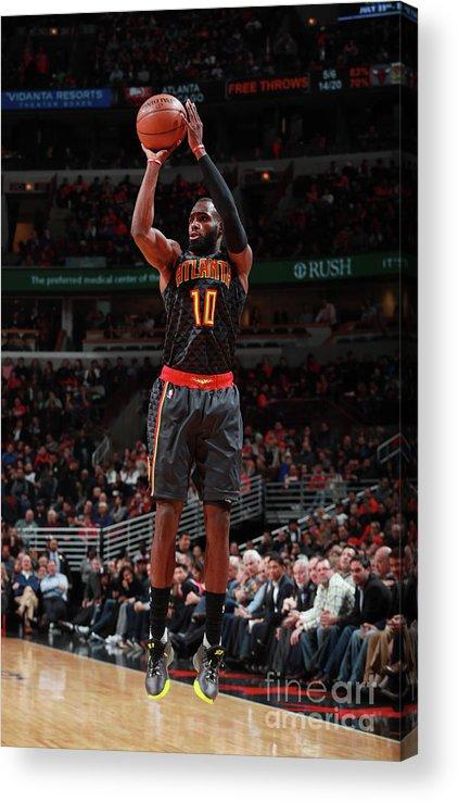 Tim Hardaway Jr. Acrylic Print featuring the photograph Atlanta Hawks V Chicago Bulls by Jeff Haynes