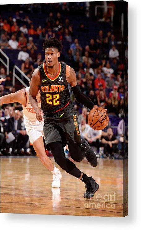 Nba Pro Basketball Acrylic Print featuring the photograph Atlanta Hawks V Phoenix Suns by Barry Gossage