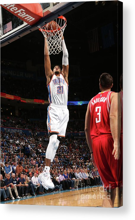 Nba Pro Basketball Acrylic Print featuring the photograph Houston Rockets V Oklahoma City Thunder by Layne Murdoch