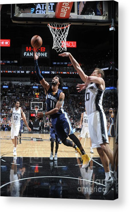 Playoffs Acrylic Print featuring the photograph Memphis Grizzlies V San Antonio Spurs - by Mark Sobhani
