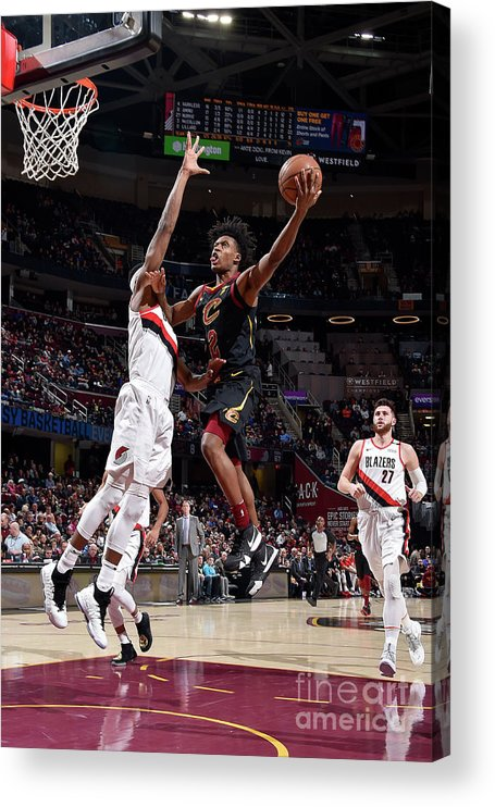 Nba Pro Basketball Acrylic Print featuring the photograph Portland Trail Blazers V Cleveland by David Liam Kyle