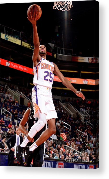 Nba Pro Basketball Acrylic Print featuring the photograph San Antonio Spurs V Phoenix Suns by Barry Gossage