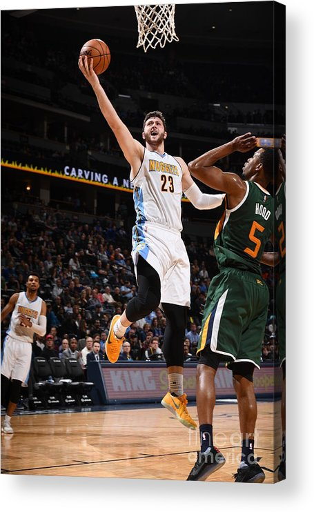 Jusuf Nurkić Acrylic Print featuring the photograph Utah Jazz V Denver Nuggets by Garrett Ellwood