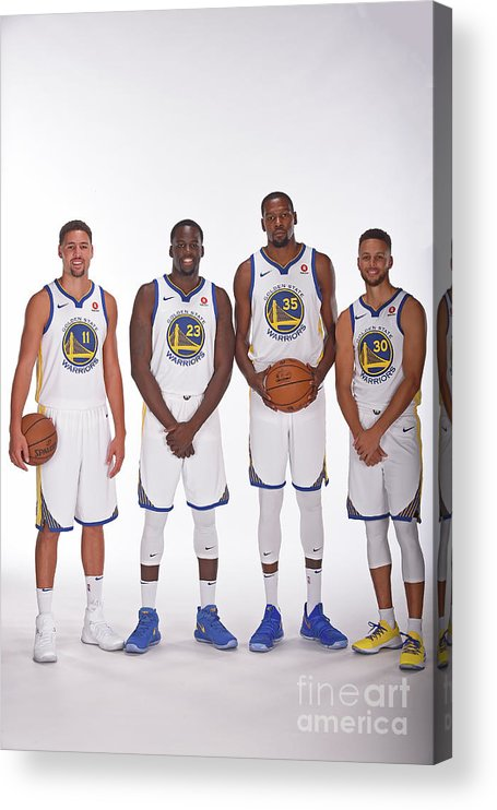 Media Day Acrylic Print featuring the photograph 2017-18 Golden State Warriors Media Day by Noah Graham