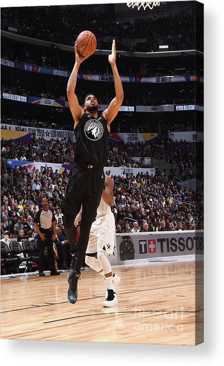 Nba Pro Basketball Acrylic Print featuring the photograph 2018 Nba All-star Game by Andrew D. Bernstein