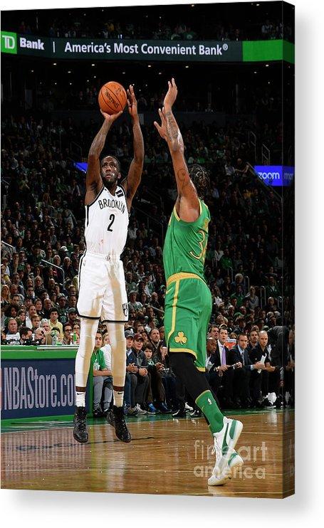 Nba Pro Basketball Acrylic Print featuring the photograph Brooklyn Nets V Boston Celtics by Brian Babineau