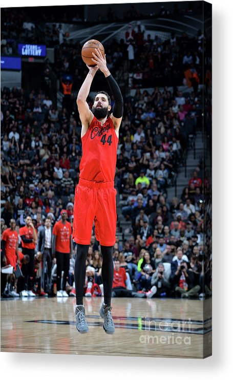Nba Pro Basketball Acrylic Print featuring the photograph Chicago Bulls V San Antonio Spurs by Mark Sobhani