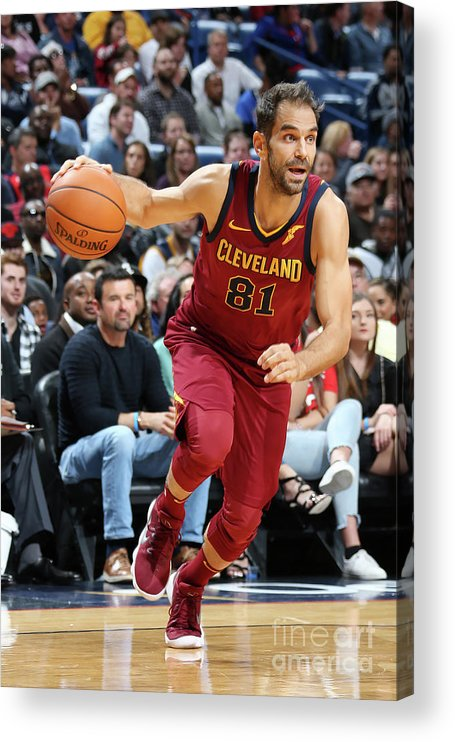 Smoothie King Center Acrylic Print featuring the photograph Cleveland Cavaliers V New Orleans by Layne Murdoch