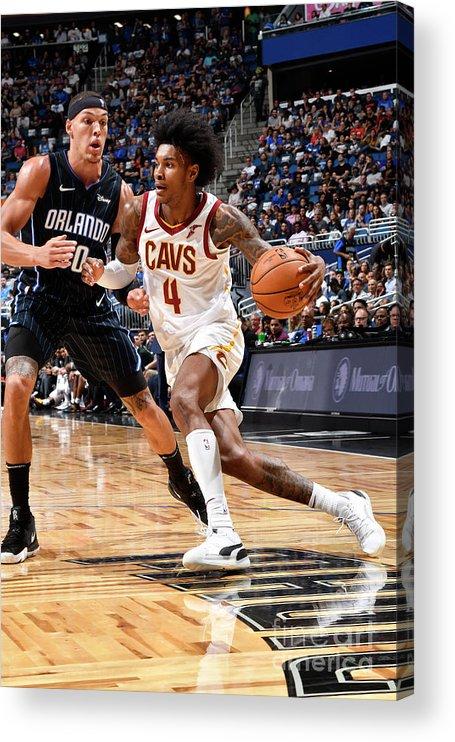 Nba Pro Basketball Acrylic Print featuring the photograph Cleveland Cavaliers V Orlando Magic by Fernando Medina