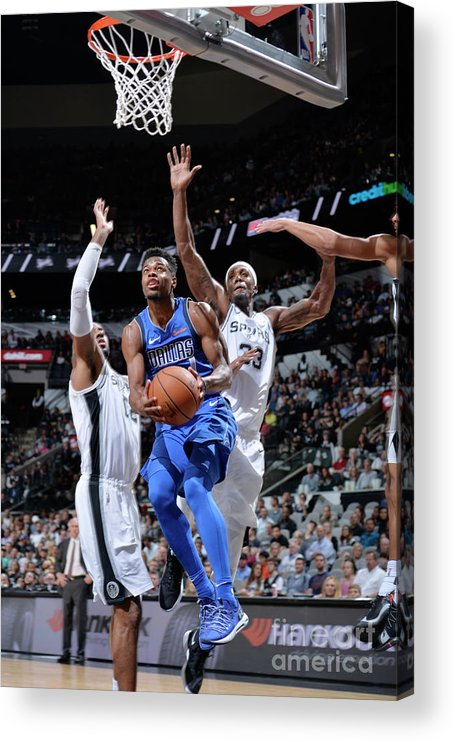 Nba Pro Basketball Acrylic Print featuring the photograph Dallas Mavericks V San Antonio Spurs by Mark Sobhani