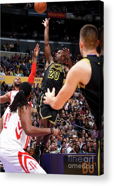 Andre Ingram Acrylic Print featuring the photograph Houston Rockets V Los Angeles Lakers by Andrew D. Bernstein