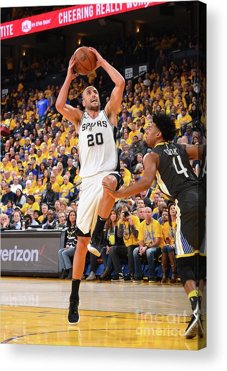Playoffs Acrylic Print featuring the photograph San Antonio Spurs V Golden State by Andrew D. Bernstein