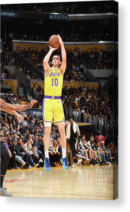 Nba Pro Basketball Acrylic Print featuring the photograph San Antonio Spurs V Los Angeles Lakers by Andrew D. Bernstein