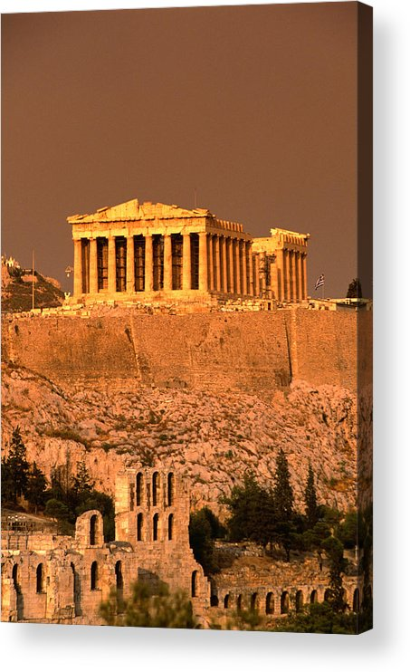 Greek Culture Acrylic Print featuring the photograph Acropolis And Parthenon From Filopappou by Lonely Planet