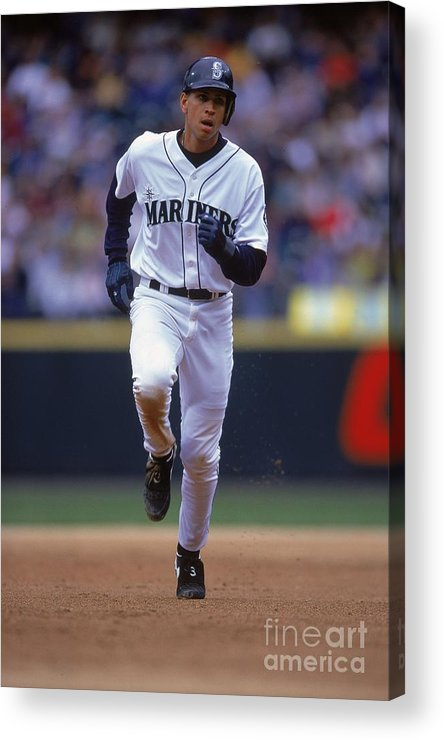 People Acrylic Print featuring the photograph Alex Rodriguez 3 by Otto Greule Jr