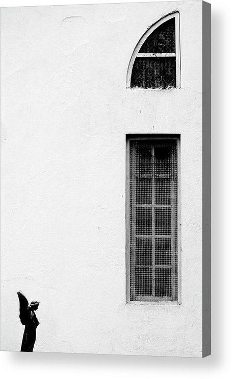 Statue Acrylic Print featuring the photograph Angel Statue In Front Of A Wall by Win-initiative/neleman