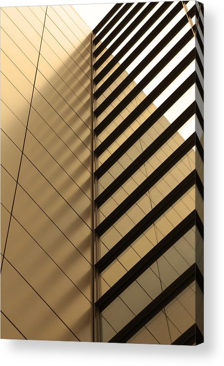 Architectural Feature Acrylic Print featuring the photograph Architecture Reflection by Tomasz Pietryszek