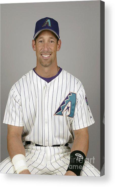 Arizona Acrylic Print featuring the photograph Arizona Diamondbacks Headshots by Major League Baseball Photos