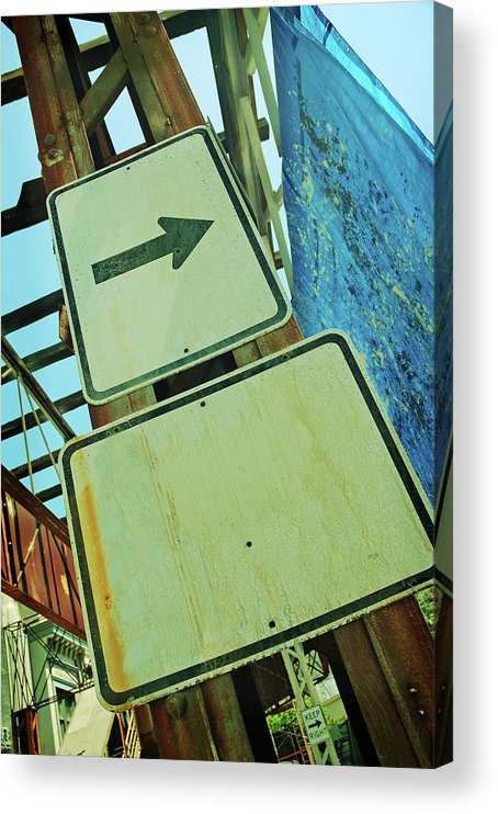 Aging Process Acrylic Print featuring the photograph Arrow Sign by Naphtalina