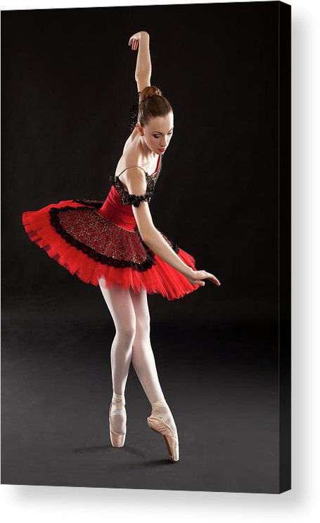 Ballet Dancer Acrylic Print featuring the photograph Ballerina On Point by Rollover