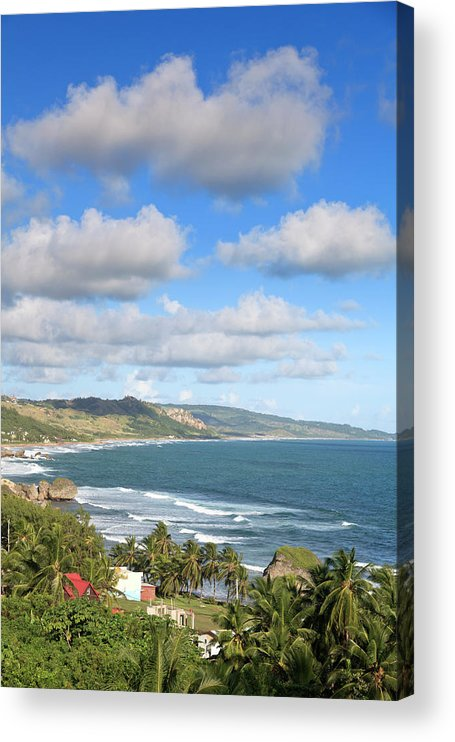 Scenics Acrylic Print featuring the photograph Bathsheba Bay, Barbados by Michele Falzone
