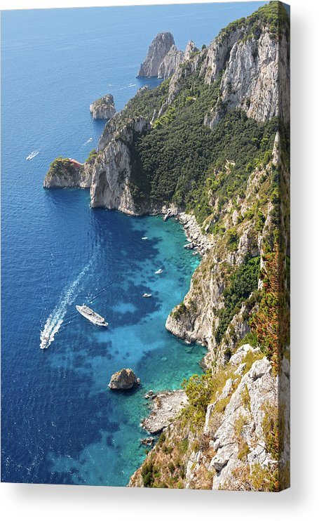Scenics Acrylic Print featuring the photograph Beautiful Capris Sea by Pierpaolo Paldino