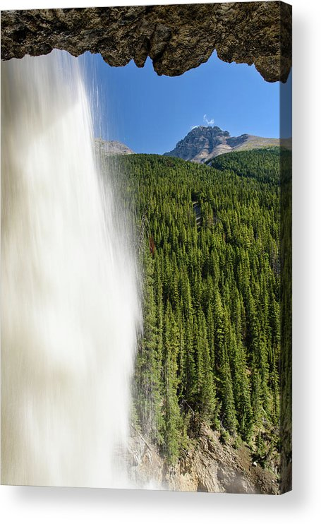 Behind Panther Falls - Vertical Acrylic Print featuring the photograph Behind Panther Falls - Vertical by Michael Blanchette Photography