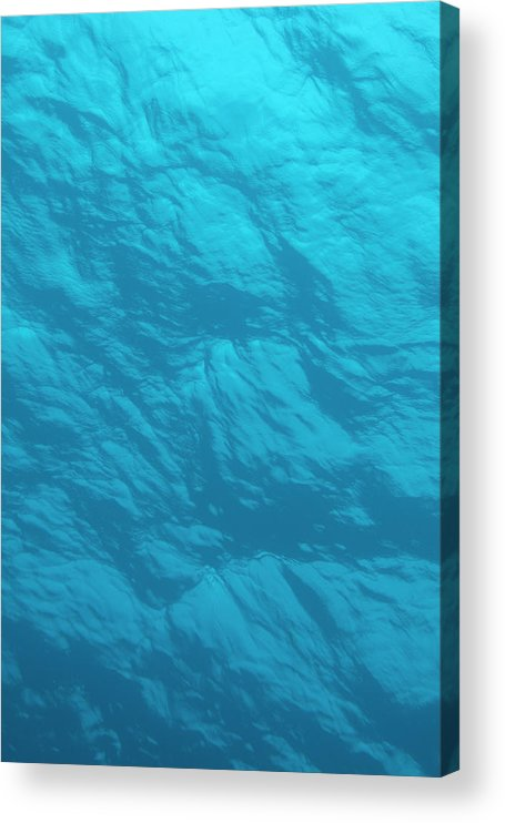 Tranquility Acrylic Print featuring the photograph Blue Ocean Water Surface As Seen From by Jeff Hunter